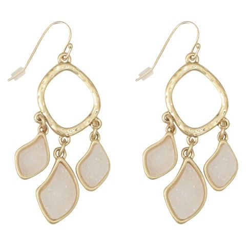 Chandlier Druzy Earring - White