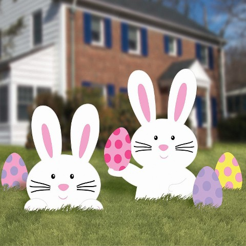 Easter Bunny Lawn Signs - 5ct