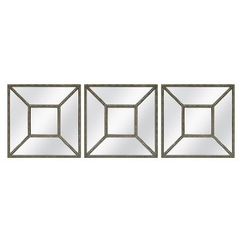 Threshold™ Square Beaded Mirror - 3 Pieces
