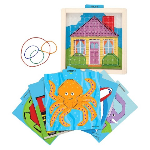 Melissa & Doug® Stretch & Match Geoboard Toy