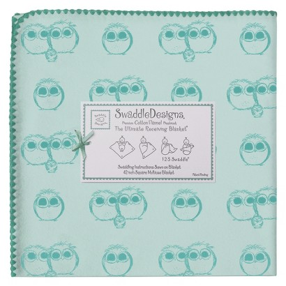 SwaddleDesign Ultimate Receiving Blanket - Owls