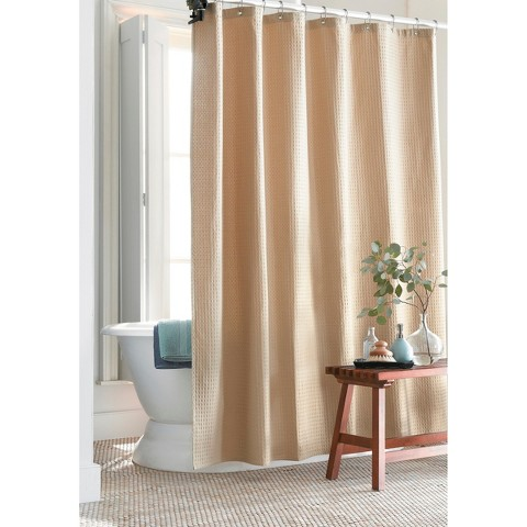 Target Home™ Waffle Weave Shower Curtain -Tan