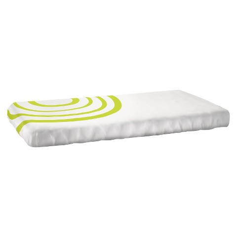 Nook Ripple Fitted Crib Sheet - Lawn