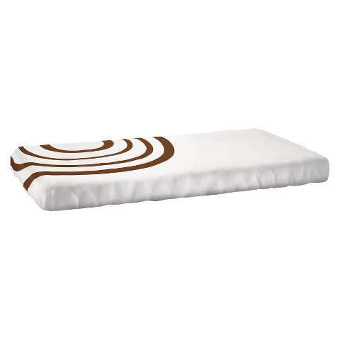Nook Ripple Fitted Crib Sheet - Bark