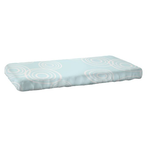 Nook Puddle Fitted Crib Sheet - Glass