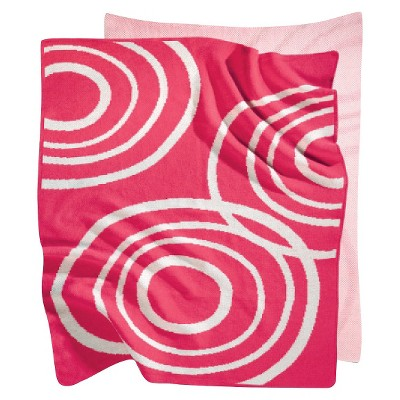 Nook Knitted Organic Cotton Blanket - Blossom