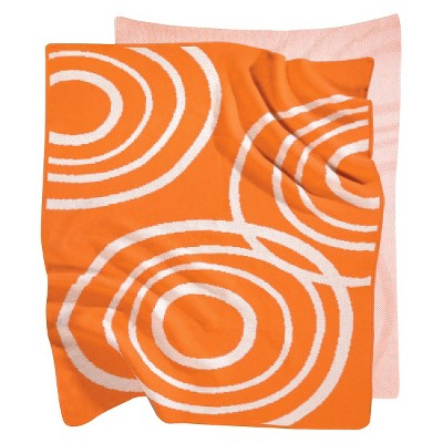 Nook Knitted Organic Cotton Blanket - Poppy