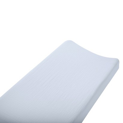 Aden & Anais solid blue changing pad cover
