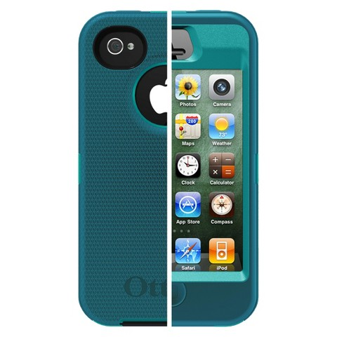 Otterbox Defender Cell Phone Case for iPhone4/4S -Teal (77-18585P1)
