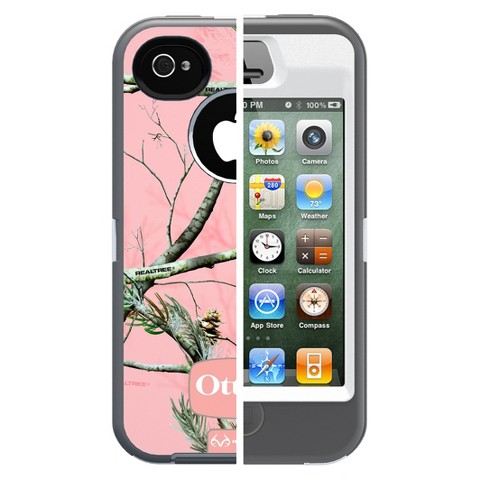 Otterbox Defender Cell Phone Case for iPhone4/4S - Pink camo (77-18634P1)