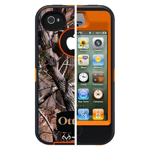 Otterbox Defender Cell Phone Case for iPhone4/4S - Orange (77-18740P1)