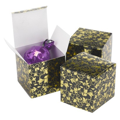 Foil Favor Box - Black/Gold