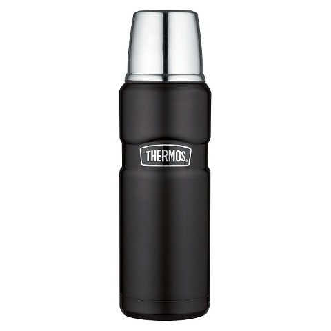 Thermos Stainless King Bottle - Matte Black (.5L)