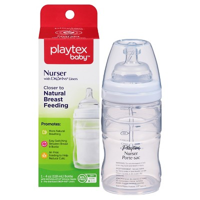 Playtex Baby Nurser With Drop-Ins Liners 4oz 1 Pack Baby Bottle