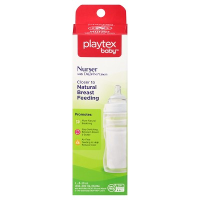 Playtex Baby Nurser With Drop-Ins Liners 8oz 1 Pack Baby Bottle