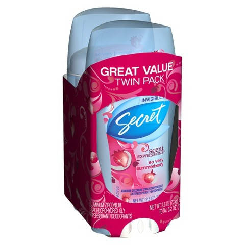 Secret® Scent Expressions® - So Very Summerberry Deodrant (2.6 oz) - 2 Pack