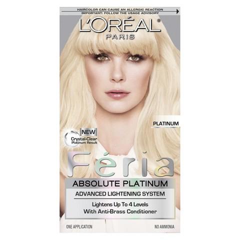 L'Oreal® Paris Feria Absolute Platinum Advanced Lightening System with Anti-Brass Conditioner