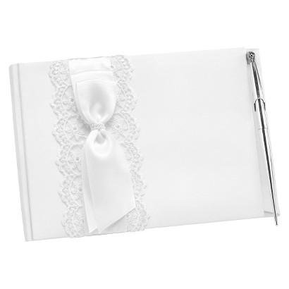 Lace Allure Guest Book w/ Pen