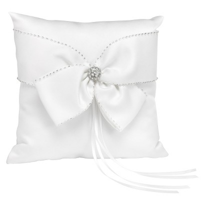 Sparkling Sash Ring Pillow