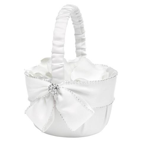 Sparking Sash Wedding Collection Flower Basket