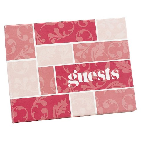 Flourishes Guest Book - Pink