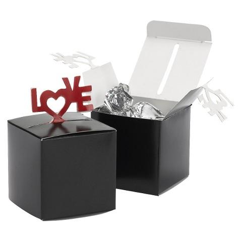 Love Pop-Up Favor Box - Black/Red