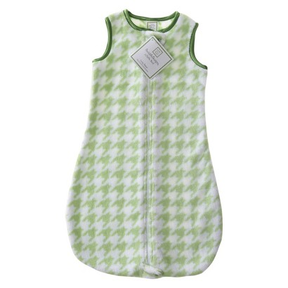 SwaddleDesign Fuzzy zzZip Me Sack - Puppytooth pastel