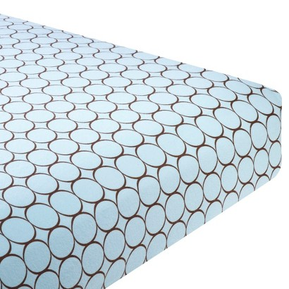 SwaddleDesign Fitted Crib Sheet - Brown Mod Circle