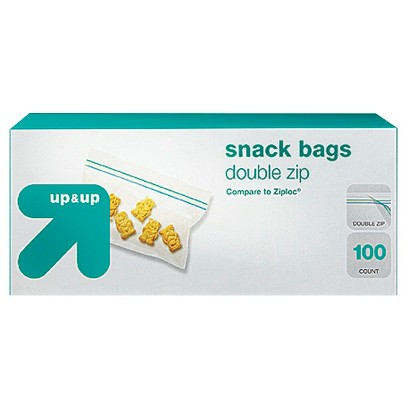up & up® - Double Zipper Snack Bags 100 ct