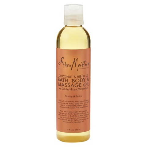 SheaMoisture Coconut & Hibiscus Bath, Body & Massage Oil - 8 fl oz