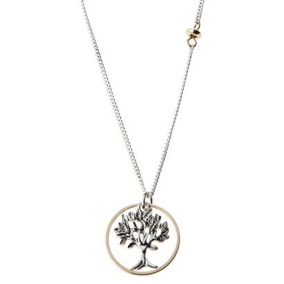 Tree Of Life Pendant Necklace - Silver/Gold