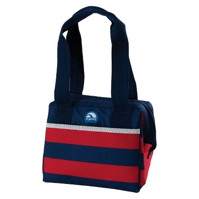 Igloo Leftover Tote 9 Can Soft Sided Cooler - Deep Red Stripe