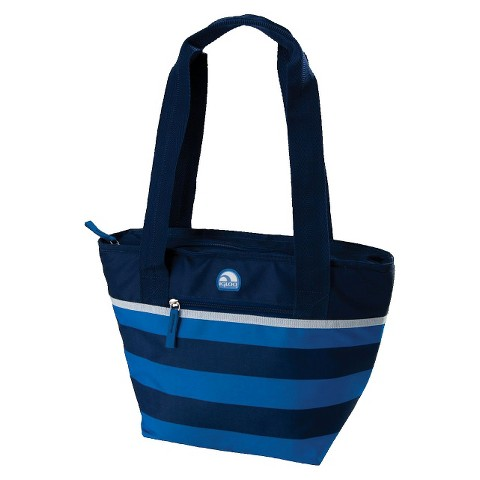 Igloo Cooler Tote 16 Can Soft Sided Cooler - True Blue Stripe