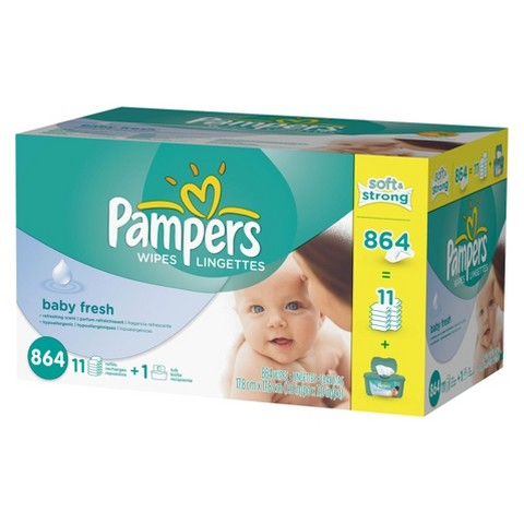 Pampers Baby Fresh Baby Wipes - 864 Count
