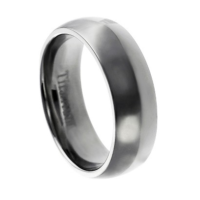 Daxx Men's Titanium Polished Domed Band (7 mm)