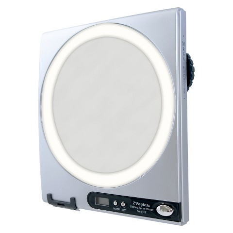 Zadro Fogless Lighted Shower Mirror - Silver
