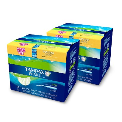 Tampax Pearl Super Tampons - 2 Pack (50 Count each)