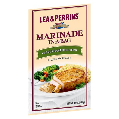 Lea & Perrins Marindae In a Bag Citrus Herb Liquid Marinade - 12 oz