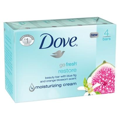 Dove go fresh Restore Beauty Bar 4 oz, 4 Bar