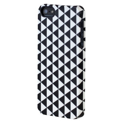 Uncommon Pyramid Deflector Cell Phone Case for iPhone® 5 - Black/White (C0070-Q)