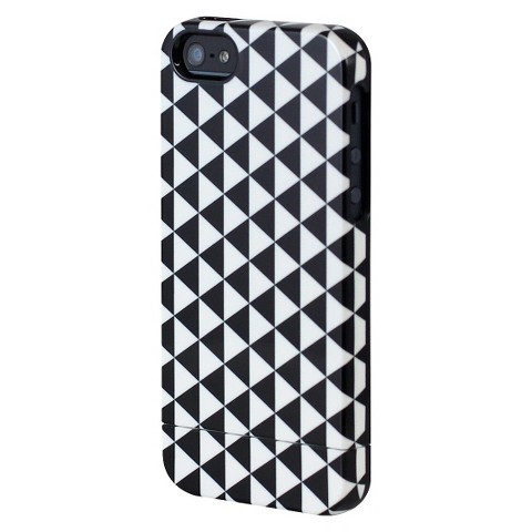 Uncommon Pyramid Capsule Cell Phone Case for iPhone® 5 - Black/White (C0070-K)