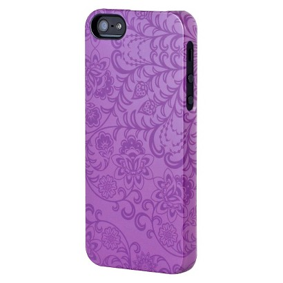 Uncommon Floral Rush Deflector Cell Phone Case for iPhone® 5 - Purple (C0070-U)