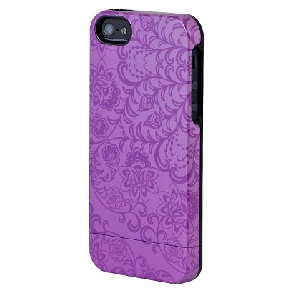 Uncommon Floral Rush Capsule Cell Phone Case for iPhone® 5 - Purple (C0070-O)
