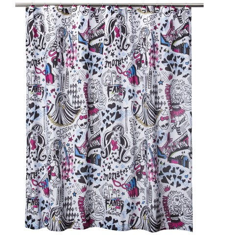 Monsters High Shower Curtain