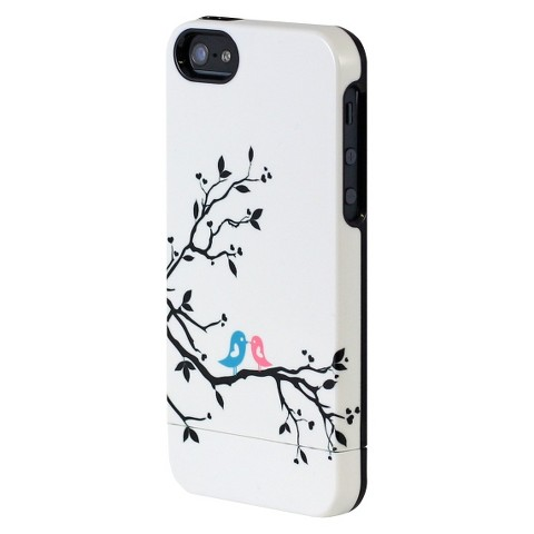Uncommon Love Birds Capsule Cell Phone Case for iPhone® 5 - White/Black (C0070-L)