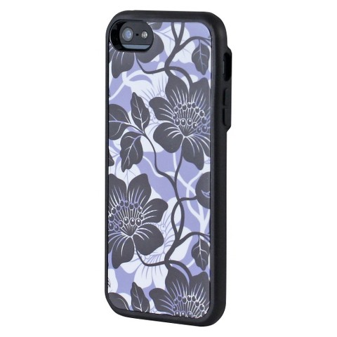 Uncommon Island Flower Periwinkle Cell Phone Case for iPhone® 5 - Grey/Purple (C0070-I)