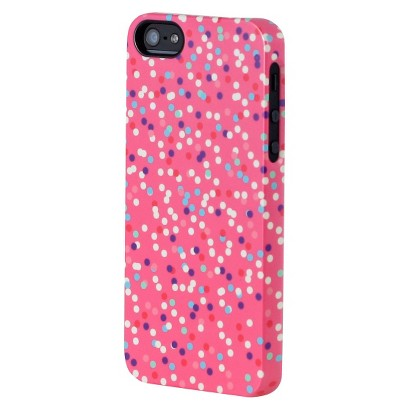 Uncommon Confetti Dots Deflector Cell Phone Case for iPhone® 5 - Pink (C0070-S)