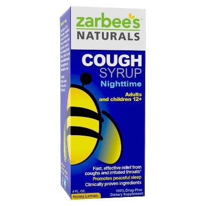 Zarbee's Naturals Adult Nighttime Honey Lemon <BR/>  Cough Syrup - 4.0 oz