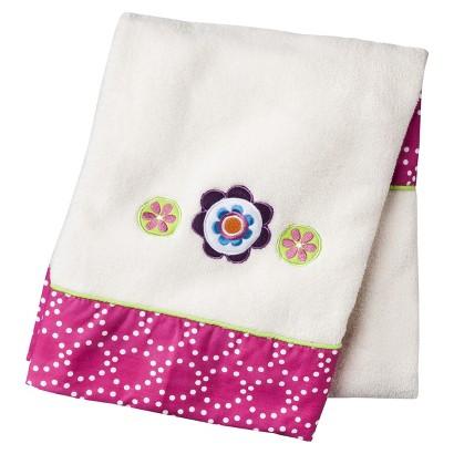 Sumersault Mix N Match Hot Pink & White Soft Blanket