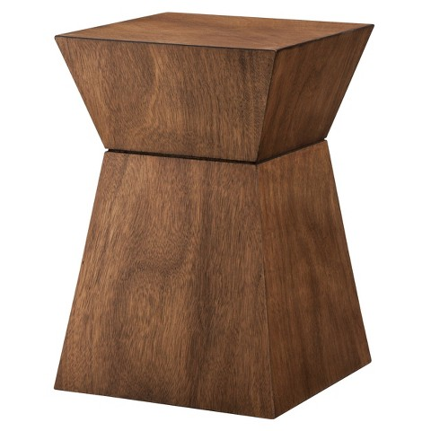 Threshold Wood Hourglass Accent Table - Mid Brown